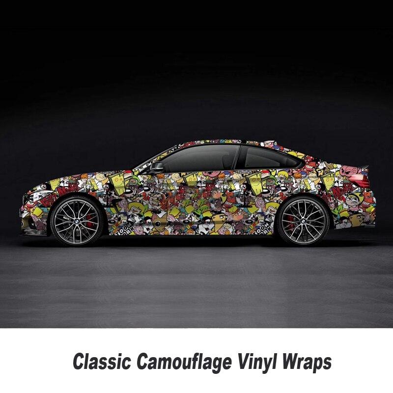 Graffiti Cartoon Sticker Bomb For Car Racing Decal Motocycle Bike Vinyl Wrap Adhesive Sticker 5m/10m/15m/20m/25m/30m