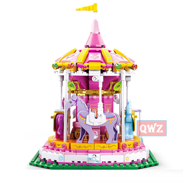 New Legoes City Girl Friends Big Garden Villa Model Building Blocks Brick Technic Playmobil Toys For Children Gifts 3