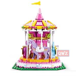 Image 4 - New City Girl Friends Big Garden Villa Model Building Blocks Brick Technic Playmobil Toys For Children Gifts