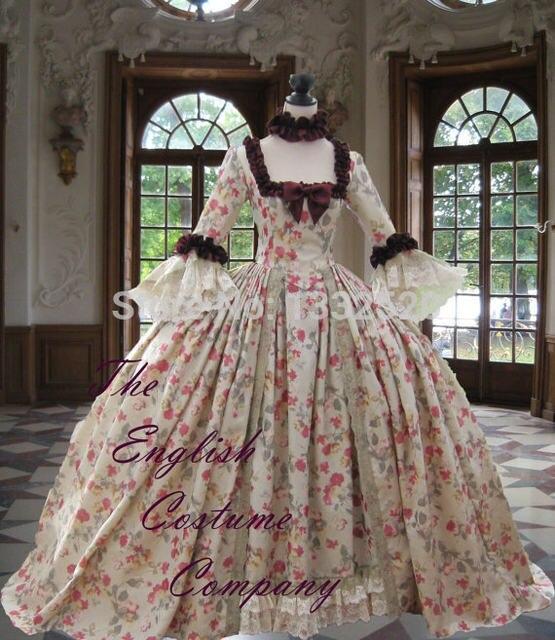 Online Shop 18th century Colonial Georgian Marie Antoinette gown ...