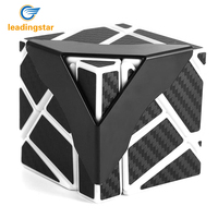 LeadingStar Newest Ghost Cube Black Blue Pink Yellow Color Assembled Without Stickering Magic Cube Puzzle Toys