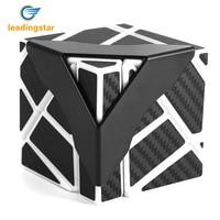 LeadingStar Emorefun Qin Speed Soomth Carbon Fiber 3x3 Puzzle Cube White Black