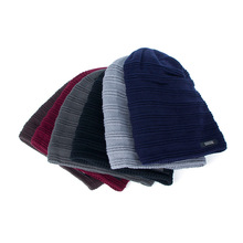 New Men Winter Keep Warm Knit Hat Casual Men Street Hip Hop Caps Hats Hood Female Headdress Stripes Cap For Unisex