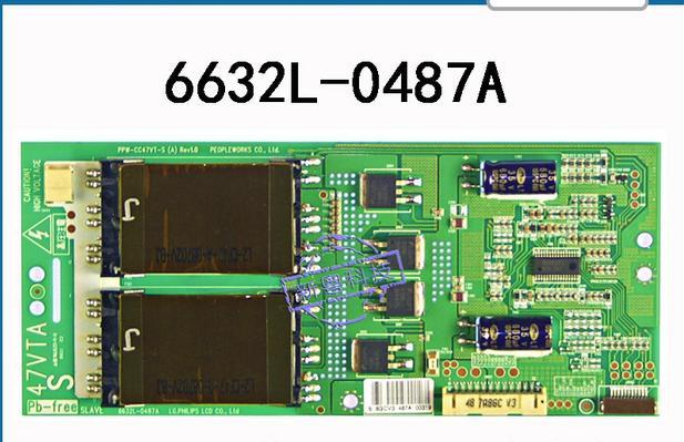 T-con placa lógica PARA PANTALLA LC470WUN alta tensión 6632L-0487A 47L28RM-F