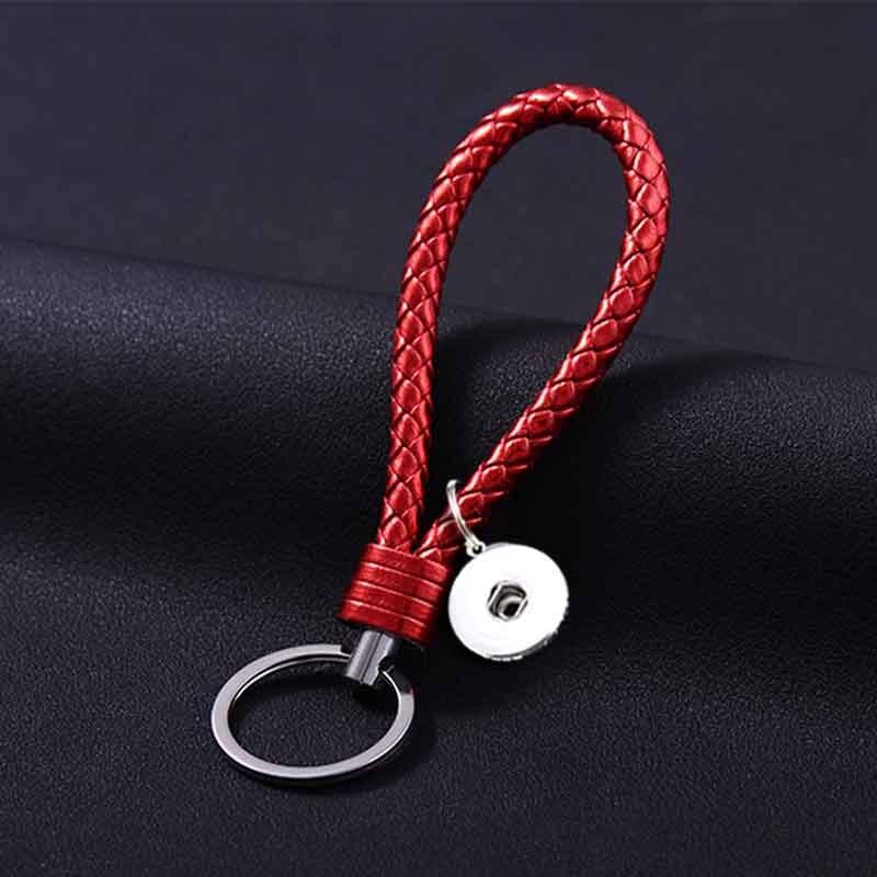 Лидер продаж топ популярных 025 Мода Weave PU кожаные брелки 18 мм кнопки брелок украшения для Для мужчин Для женщин 10 цвета брелоки