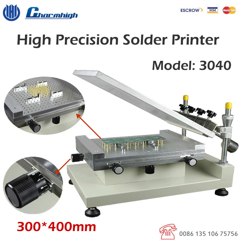 High Precision Solder Printer 3040 Solder Paste Printer / Manual Stencil Printer / Best Quality Recommend!