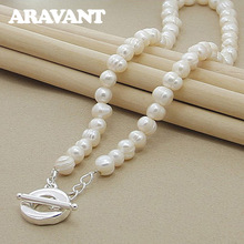 Freshwater Pearl Necklaces 925 Silver Jewelry For Women Wedding Fashion