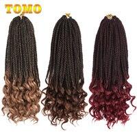 TOMO 22 пряди коробка косички кудрявые концы синтетические Омбре плетение волос ткет 14