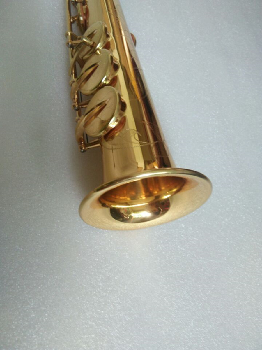 New Gold 54 B flat Soprano saxophone High Quality musical instruments Soprano professional shipping Case