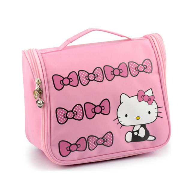 2060b6e3d0 Online Shop Hello Kitty Toiletry Shower Bag With Hanging Hook Cosmetic Make  Up Organizer Bag With Mesh Pocket For Girls Women s Vacation