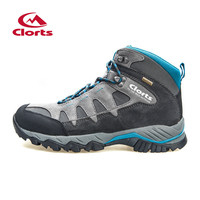 Clorts Hiking Boots For Men Outdoor Hiking Shoes Suede Leather Men Trekking Shoes Waterproof Climbing Sneaker