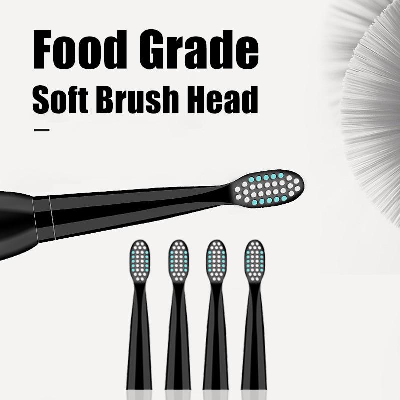 Electric Toothbrush Rechargeable Ultrasonic Washable Electronic Whitening Waterproof Teeth Brush Toothbrush Head Replaceable