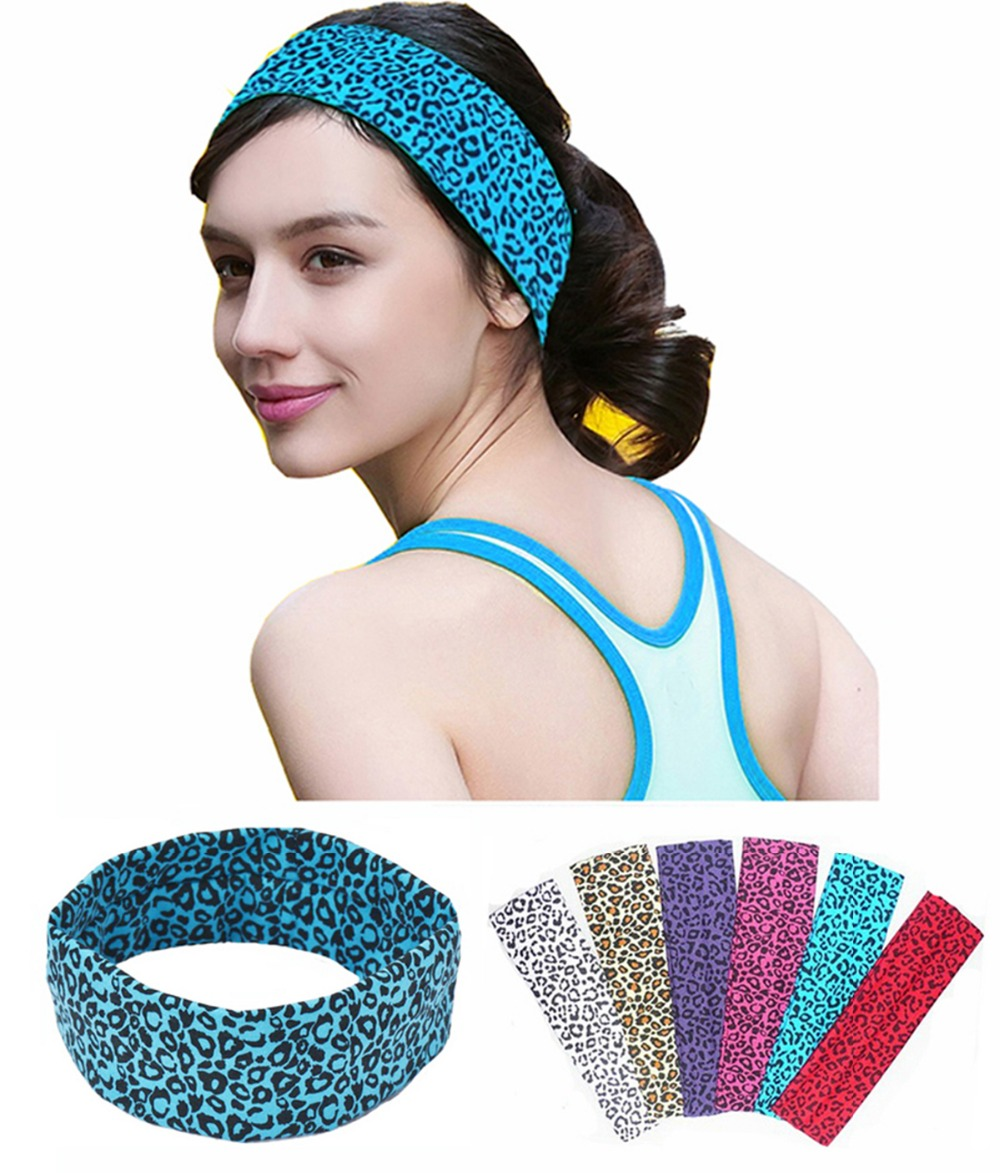 2 Inch Cheetah Leopard Printing Cotton Stretch Headbands
