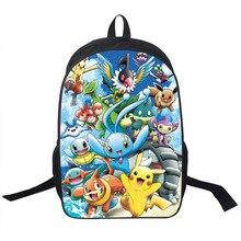 Anime Pokemon Tagesrucksack Jungen Mädchen Schultaschen Pikachu Drucke Rucksack Für Jugendliche Kinder Geschenk Rucksäcke Schulranzen Mochila