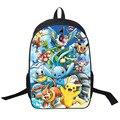 Anime Pokemon diario Mochila niños niñas bolsos de escuela Pikachu Prints Mochila para adolescentes regalo de los cabritos mochilas mochilas Mochila