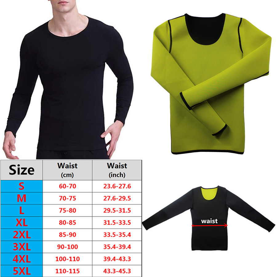 Men Slimming Long Sleeve New Body Shapers <font><b>T</b></font>-<font><b>Shirt</b></font> Tops <font><b>Neoprene</b></font> Sauna Sweat Fitness Shapewear Vest <font><b>Shirt</b></font> Trimmer Weight Loss image