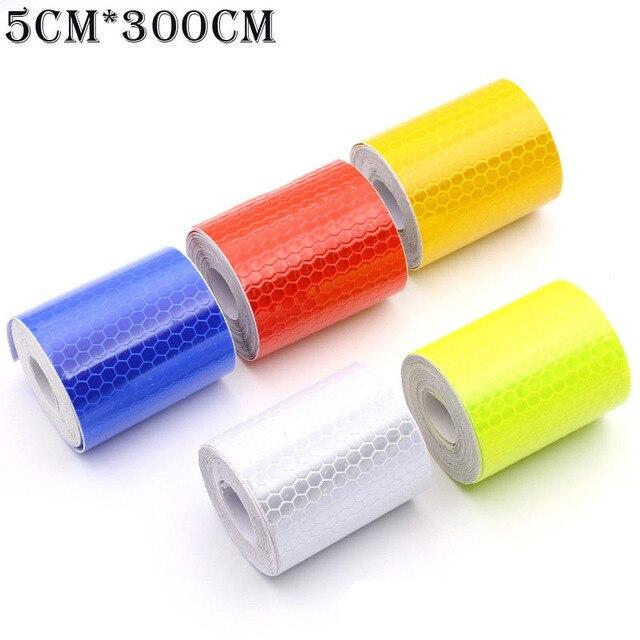 CHIZIYO 5x300 cm Rood Wit Blauw Geel Reflecterende Strip Auto Stickers Reflector Vrachtwagens Motorfiets Veiligheidswaarschuwing Reflecterende Tape