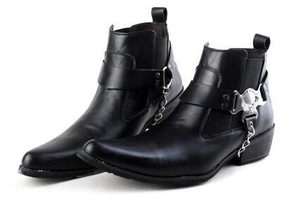 Hot 2017 Short tube Chelsea boots male cowboy boot set foot short new winter stylist Martin boots / 38-44