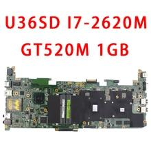 U36SD motherboard mit I7-2620 CPU U36SG U44SG laptop motherboard REV 2,1 GT610 1G 100% Getestet