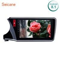 Seicane 10.1 Android 8.1 2DIN Bluetooth DVD Multimedia HD Touchscreen GPS Car Radio For 2014 2015 2016 2017 Honda CITY Left