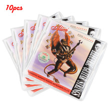 10 Set Alice A506-XL Electric Guitar Strings 6 String Plated Steel Core Nickel Alloy Wound 008 to 038inch for Guitar Accessories orphee electric bass strings hexagonal carbon steel nickel alloy wire medium light strong 4 strings guitar accessories