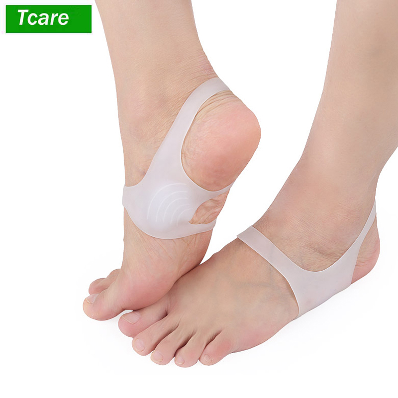1Pair Arch Support Shoe Insert Foot Pads For Plantar Fasciitis And Flat Feet Soft Gel Sleeves Set Discreet Arch Pain Relief