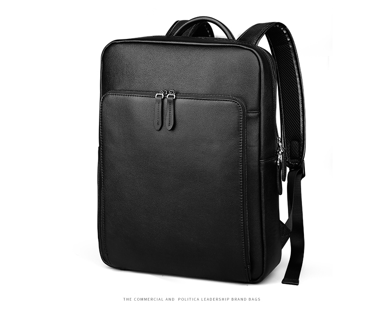 EISIPURI New Fashion Men's Leather Backpack High Quality Genuine Leather School Bags for Teenagers Large Travel Laptop Backpacks