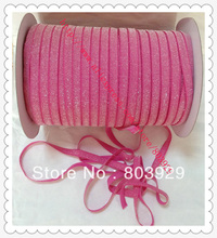 Stretch Metallic Headband Ribbon Garden Rose Sparkle Ribbon 3 8 Elastic Frosted Garden Rose Glitter Velvet