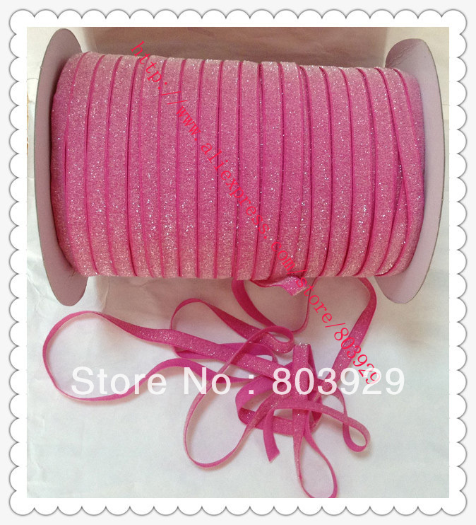 Stretch Metallic Headband Ribbon font b Garden b font Rose Sparkle Ribbon 3 8 Elastic Frosted