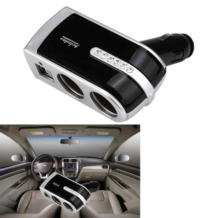 Car Electronics 1pcs charger Universal 12V-24V Cigarette Lighter Adapter USB Car Chargers Dual USB Car Charger       july12