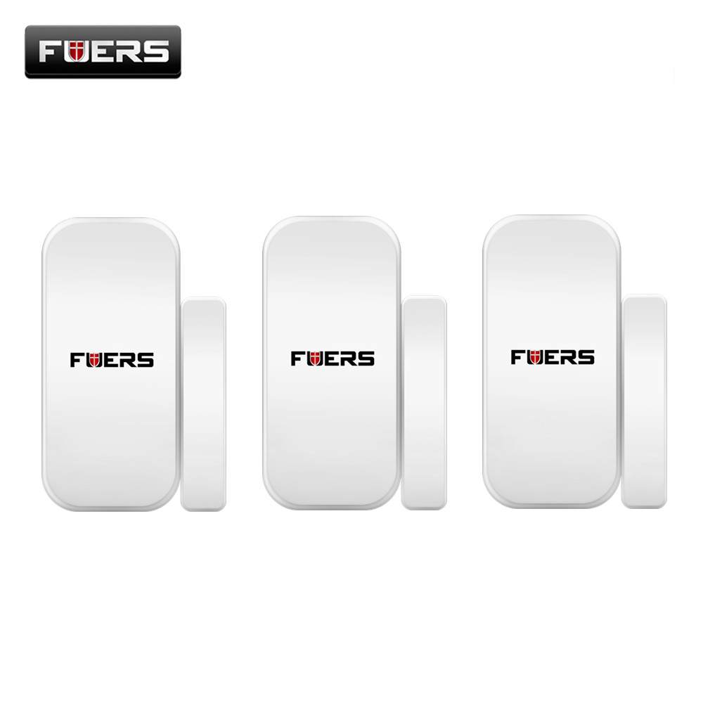 Fuers 3pcs/lot Wireless Door Magnetic Sensor Detector For Touch Keypad Panel GSM PSTN Home Security Burglar Voice Alarm System 5pcs lot wireless pir motion sensor detector f touch keypad panel gsm pstn home house security burglar voice alarm system