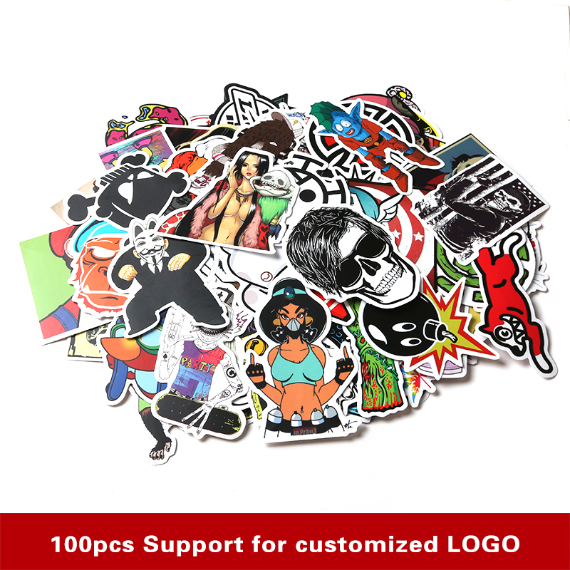 High Quality Car Styling sticker bomb skateboard stickers Doodle Graffiti Snowboard bike motorcycle accessories luggage bags