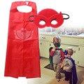 2016 Hot Sale Mask+cape superman spiderman kids superhero capes batman superhero costume suits for boys girls for party