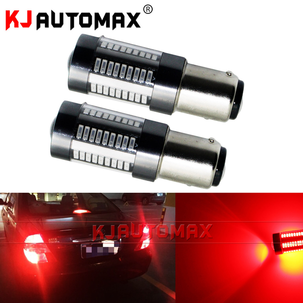 Red Brake Lights High Power Led For 1157 For KJautomax 66-SMD 4014 led chips
