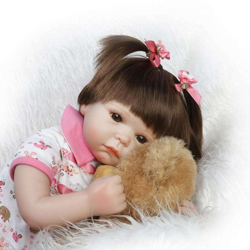 oso + muñeca Hecho a mano de silicona vinilo adorable Realista niño - Muñecas y accesorios - foto 3