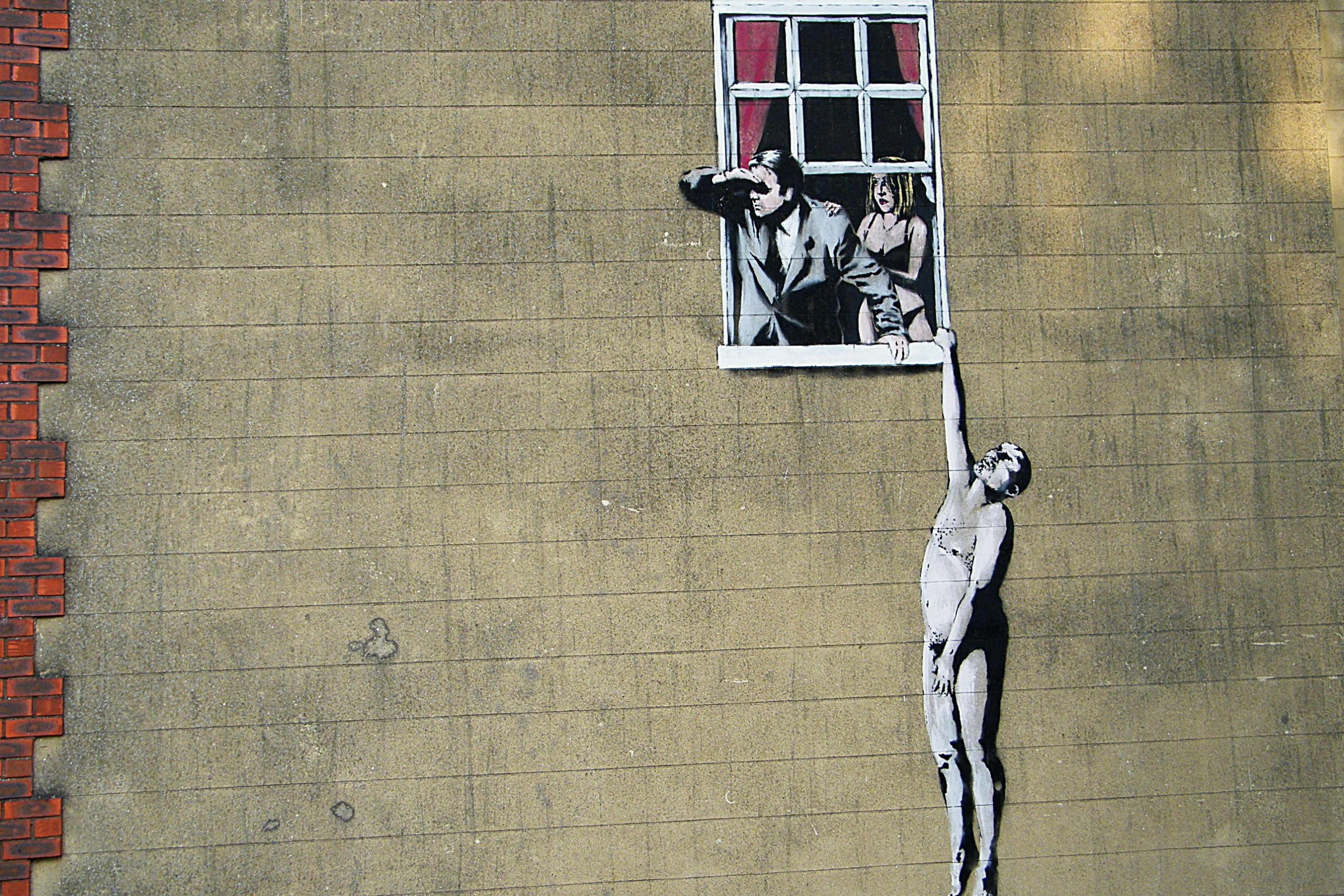 Graffiti art on wood - Banksy Graffiti The Situation Living Room Home Art Decor Wood Frame Fabric Poster Accept Customization