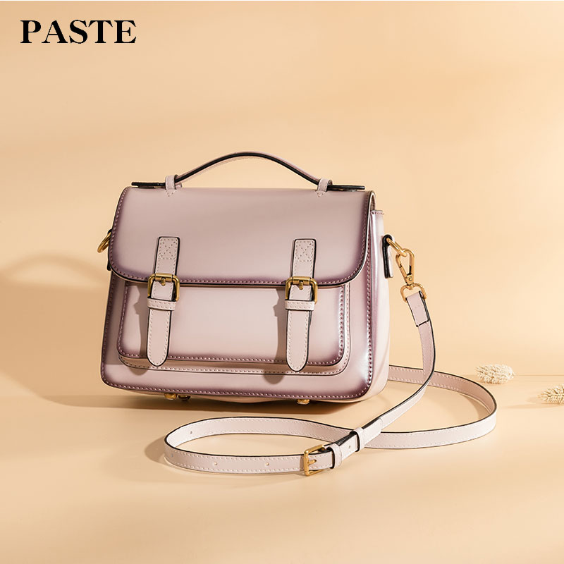 Paste Women Handbags Vintage Crossbody Messenger Bag New Leather Shoulder Bags Square 2018 Brand Lady Solid Small Flap 3051-S stylish women s crossbody bag with solid