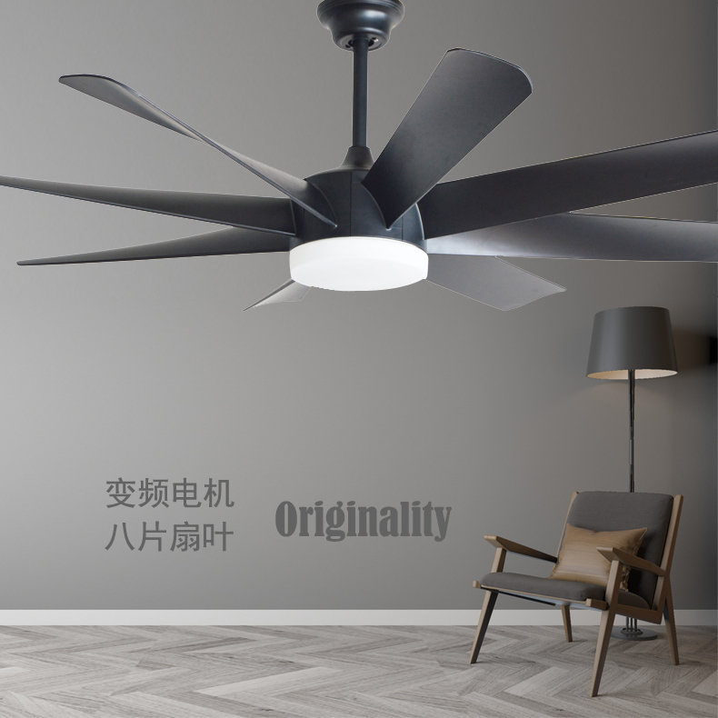 Ceiling Lights & Fans American Industrial Wind Eight Leaves 58 Inch Led Ceiling Fans Remote Control Living Room Bedroom Home Ceiling Light Fan Lamp Comfortable And Easy To Wear