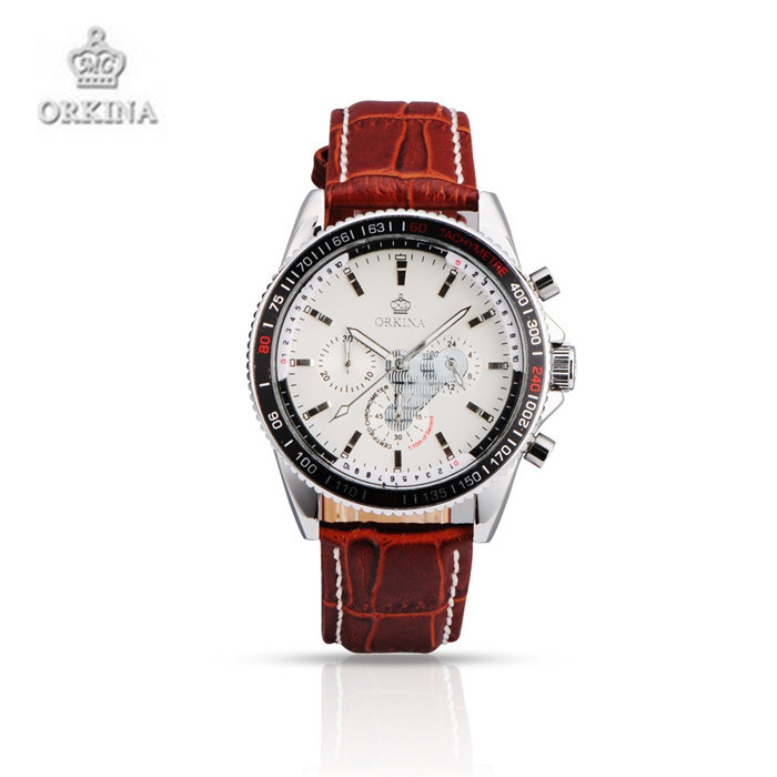 Orkina Luxury Brand Watches High grade Men and Women Leather Quartz Wristwatches Fashion Business Watches