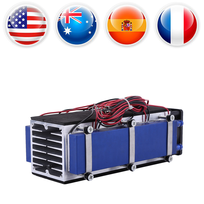 8-Chip TEC1-12706 12V 576W DIY Thermoelectric Cooler Refrigeration Air Cooling Device small space cooling 5 pcs qdzh35g r134a 12v cooling compressor for marine refrigeration unit