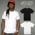 New Men shirt Hiphop 100%  cotton solid color Short sleeve t-shirt Lil` Wayne Free shipping