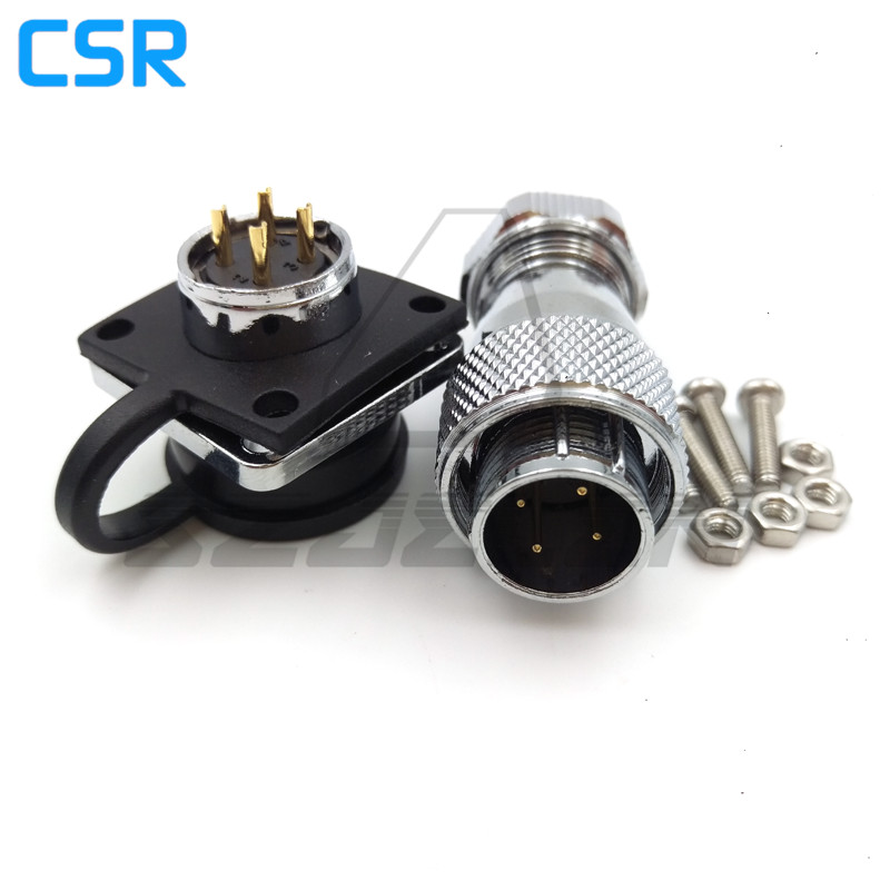 WS16 series waterproof 4 pin Male female connectors , industrial automation power connectors, IP68 waterproof 4 pin connector jelen hp20 series 7 pin industrial connectors plug socket aviation connector power charger male and female connectors 7 pin