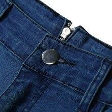 Women Back Zipper Pencil Stretch Denim Skinny Jeans Pants High Waist Trousers Slim Black Jeans Stretch Waist For Women
