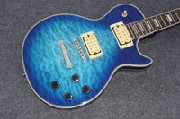 New Arrive Custom Shop Blue Electric Guitar Classic T Blue Ocean Burst LP Electric Guitar Real
