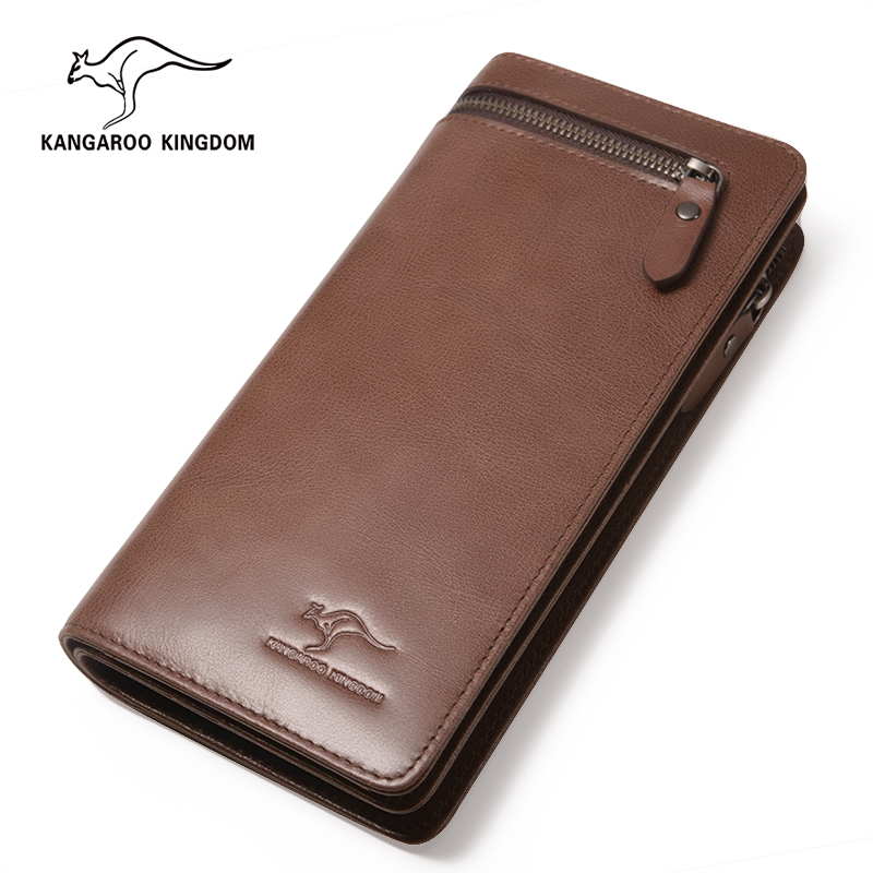KANGAROO KINGDOM luxury vintage men wallets genuine leather brand causal male clutch purse card holder wallet aetoo genuine leather wallets men wallets clutch male purse long wallet clutch men bag card holder purse phone holder vintage