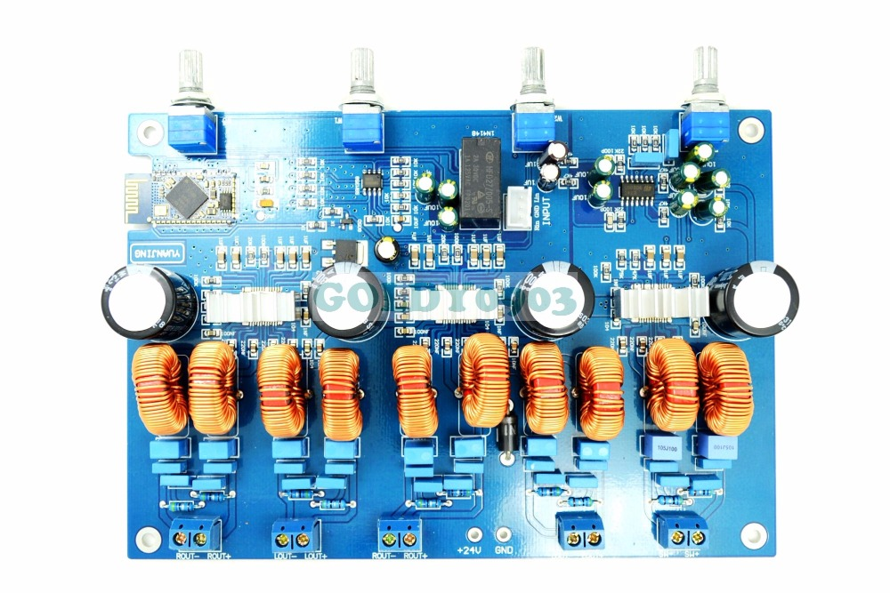 TPA3116 4.1 Class D Amp with 4.0 Bluetooth Stereo Amplifier Board 4*50W+100W