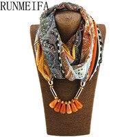 2017 Solid Bullet Pendant Scarf Charm Women Jewelry Scarves Necklace Pashmina Shawls Wraps Schal Bufanda Cachecol