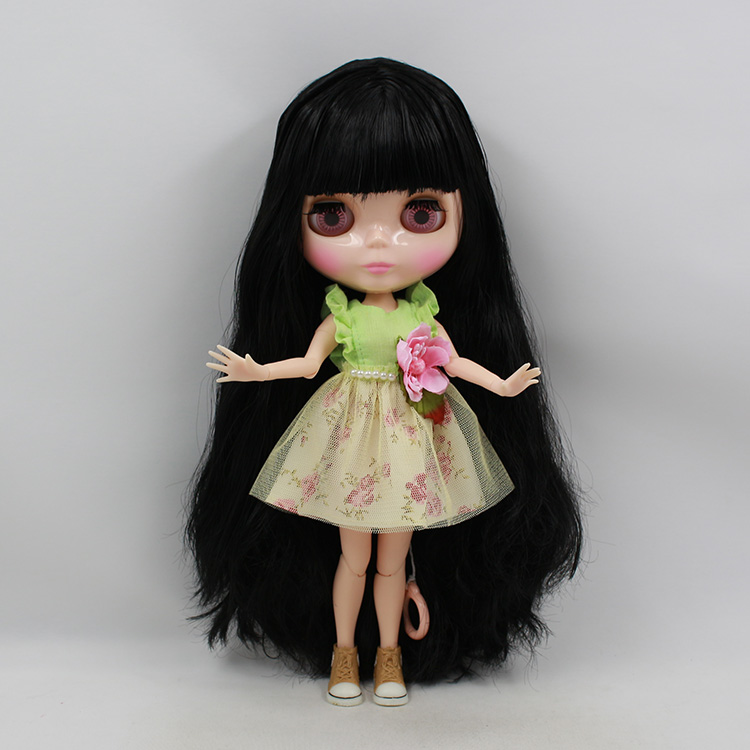 Free shipping Nude Doll For Series No. 280BL117 Joint doll Black hair Suitable For DIY Change BJD Toy For Girls все цены