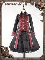 2017 New Autumn Clothing Cosplay Gothic Dress Custom Made Elegant Black Red Coat O