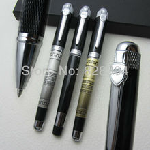 3pcs jinhao high quality classic ancient bronze tripod, black grade medium nib Roller Pen free shipping